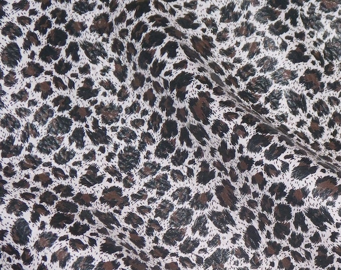 Leather CLOSEOUT various sizes LUXURY LEOPARD with a very slight hint Pink Cowhide #612 #537 #103 #151  (Not hair on) 3.5oz/1.4 mm E2550-17