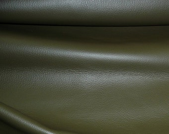 """Leather 8""""x10"""" King Deep OLIVE Drab Green / Khaki  full grain Cowhide 3-3.5 oz / 1.2-1.4mm PeggySueAlso™ E2881-02 Full Hides Available"""