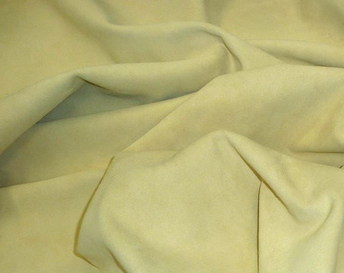 "Suede Leather 12""x12"" Dark FRENCH VANILLA Garment Suede Cowhide 2.5-2.75 oz / 1-1.1 mm PeggySueAlso™ E2826-14 limited"