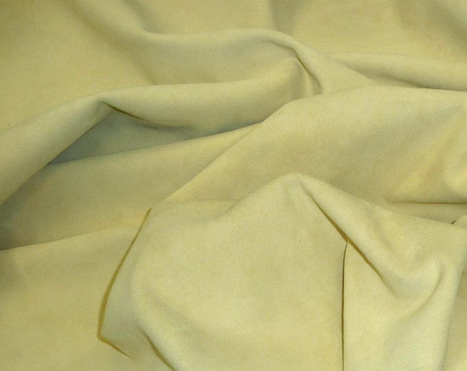 "Suede Leather 8""x10"" Dark FRENCH VANILLA Garment Suede Cowhide 2.5-2.75 oz / 1-1.1 mm PeggySueAlso™ E2826-14 limited"