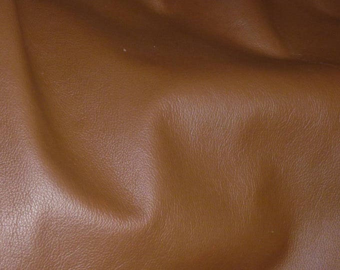 Leather 3 - 6 sq ft  Biker BRANDY top grain Cowhide 3-3.5 oz / 1.2-1.4mm PeggySueAlso™ E2879-08