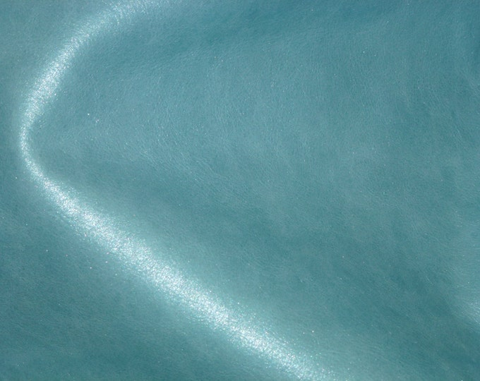 "Leather 12""x12"" Pearlized ICE PRINCESS Blue Green SOFT Hide 2.5-3 oz/1-1.2 mm PeggySueAlso™ E2971-02"