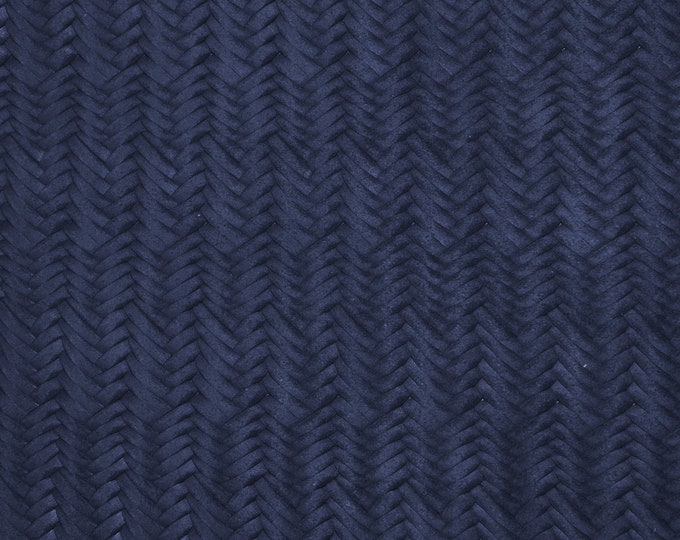 "Leather 8""x10"" Braided Fishtail NAVY Blue Cowhide SOFT 3.5 oz  / 1.4 mm PeggySueAlso™ E3160-26 Hides Available"
