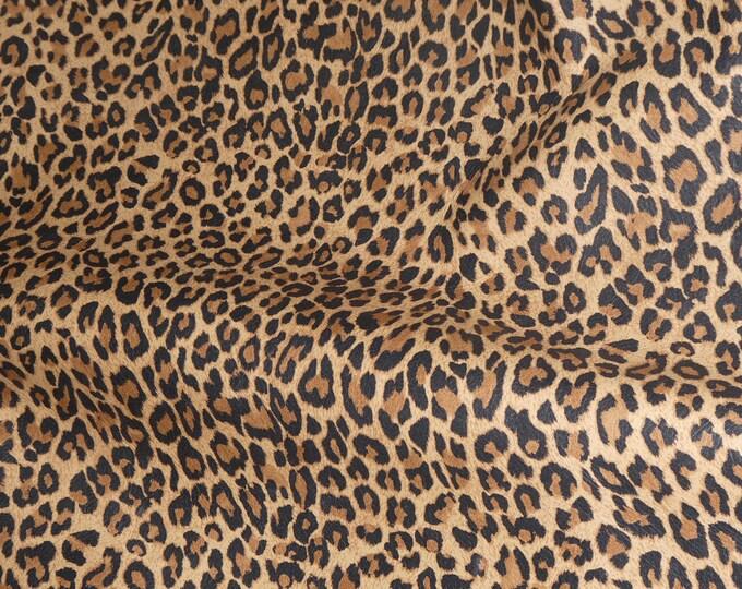 3-4-5-or 6 sqft Original Mini TAWNY Tan Cheetah / Leopard Print Cowhide 2.5oz / 1mm PeggySueAlso™ E6730-01 Hides Available