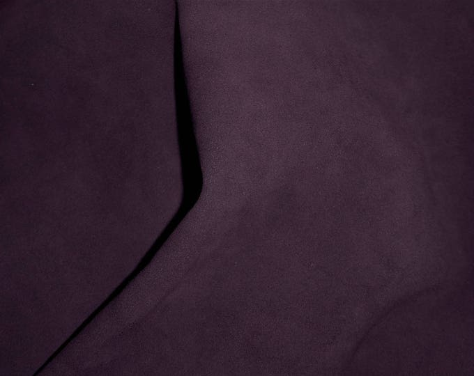 "Suede Leather 8""x10"" Dark Purple Garment Grade Cowhide 3.25 oz / 1.4 mm PeggySueAlso™ E2825-09 hides available"