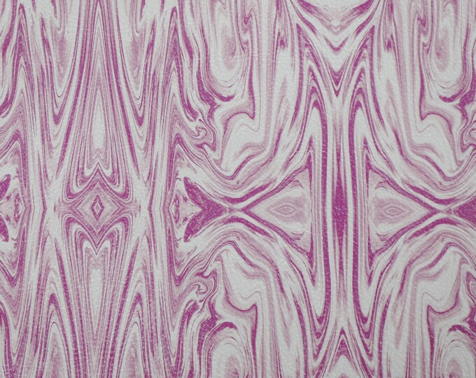 NEW Leather 3 or 4 or 5 or 6 sq ft MULBERRY Pink Marble on White Cowhide 3-3.5 oz / 1.2-1.4 mm PeggySueAlso™ E2362-02