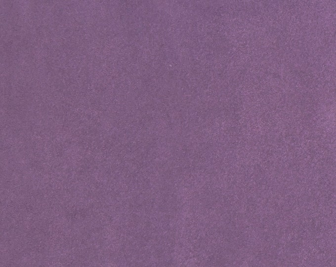 """Suede Leather 8""""x10"""" AMETHYST PURPLE Garment Grade SUEDE Cowhide 3.5-3.75 oz / 1.2-1.3 mm PeggySueAlso™ E2827-17"""