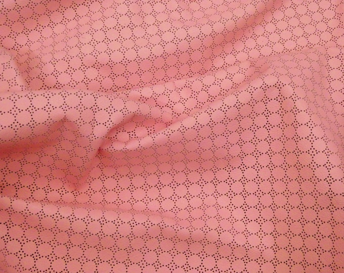 Leather 3 or 4 or 5 or 6 sq ft Swiss Dot Perforated Soft PINK Bubblegum Cowhide 2-2.25 oz / 0.8-0.9 mm PeggySueAlso™ E7100-03