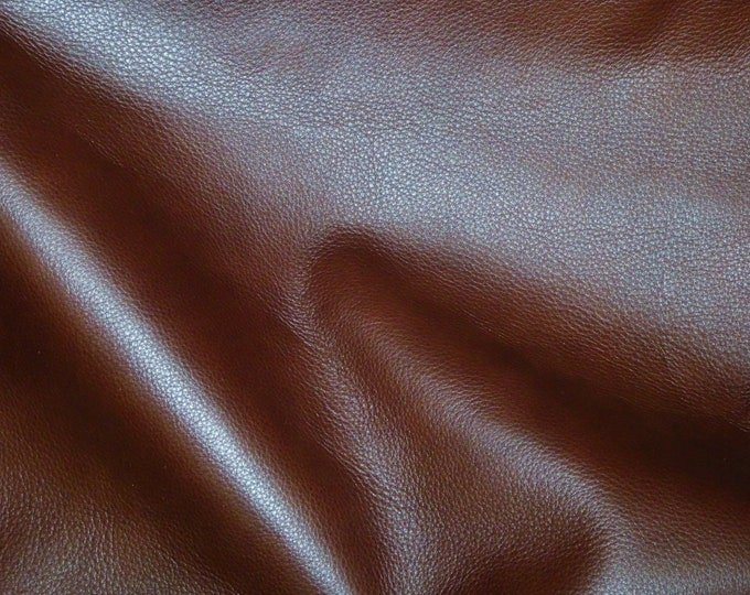 """Leather 12""""x12"""" King REDDISH BROWN Rich Slightly Marbled Soft Cowhide 3oz/1.2mm PeggySueAlso™ E2881-15 Full Hides Available"""