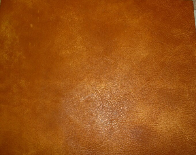 "Leather 8""x10"" Artisan Tie Dye HONEY / BURNT ORANGE  Cowhide 3-3.5 oz / 1.2-1.4 mm PeggySueAlso™ E2920-02 hides available"