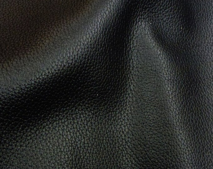 """Leather 20""""x20"""" Rich Black BUFFALO embossed Cowhide 4oz / 1.6mm PeggySueAlso™ E3250-01"""
