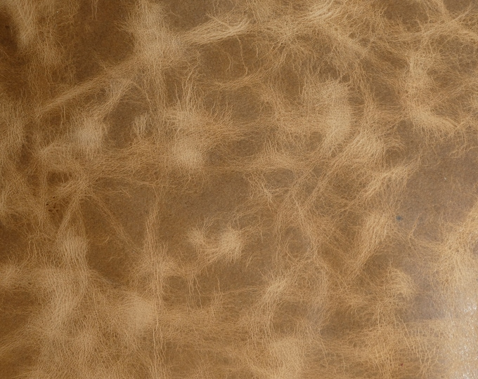 "Leather 12""x12"" PULL UP Aged look CAMEL Distressed Cowhide 3-3.75 oz /1.2-1.5mm PeggySueAlso™ E2930-02 Hides available"