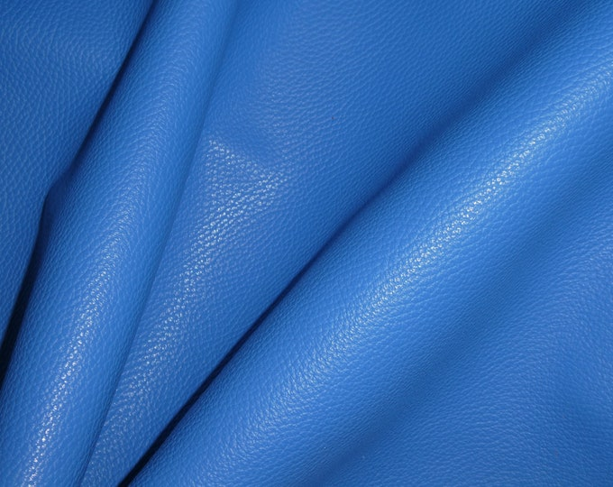 "Leather 12""x12"" Imperial CELTIC Blue Fully Finished Pebble Grain Thick Italian Cowhide 3.75-4 oz/1.5-1.6 mm PeggySueAlso™ E3205-06"