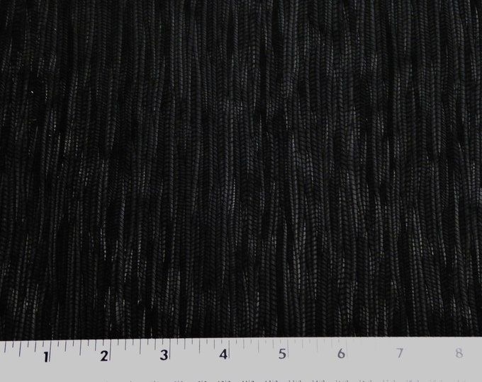 "Leather 8""x10"" Palm Leaf BLACK Cowhide 3-3.25 oz / 1.2-1.3 mm PeggySueAlso™ E3171-08"