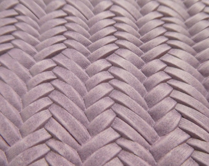 """Leather 5""""x11"""" Braided ITALIAN Fishtail ORCHID Cowhide 3-3.5 oz / 1.2-1.4 mm #554 PeggySueAlso™ E3160-02"""