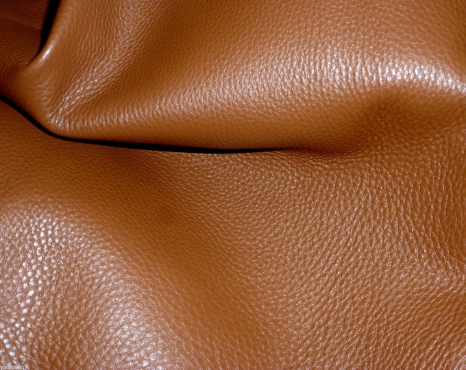 "Leather 20""x20"" King OAK TAN Full Grain Cowhide 3-3.5oz/1.2-1.4 mm PeggySueAlso™ E2881-13 hides available (Ships Folded)"