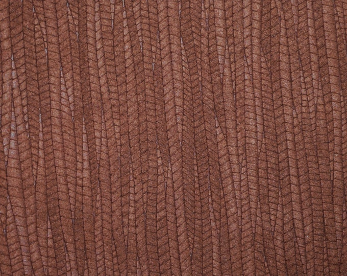 Leather 3+ sq ft  Palm Leaf PECAN Brown Cowhide 3-3.25 oz / 1.2-1.3 mm PeggySueAlso™ E3171-05 hides available