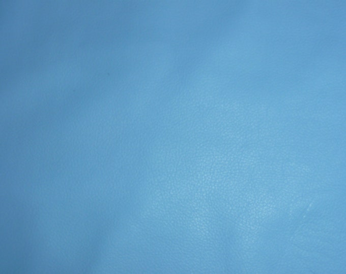 "Leather 8""x10"" Divine Carolina AERO Dark BABY BLUE Top Grain Cowhide  2.5oz/ 1 mm PeggySueAlso™ E2885-26 Full hides available"