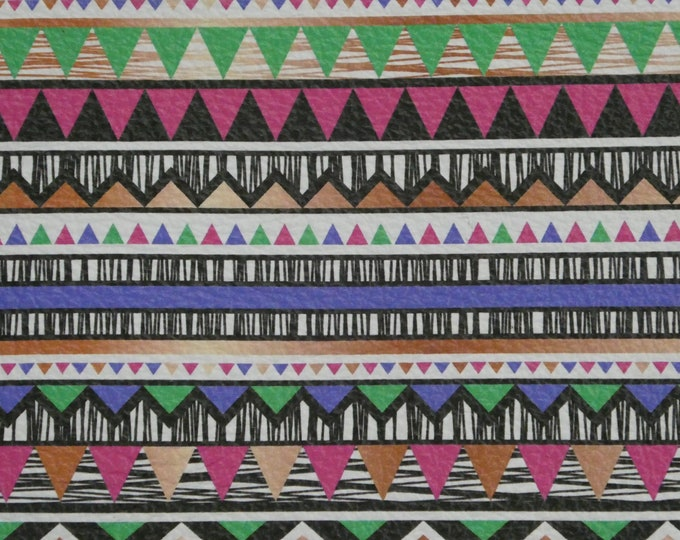 Leather 3 sq ft AZTEC #2 Green Hot Pink Black PURPLE cowhide 3-3.25 oz / 1.2-1.3 mm PeggySueAlso™ E1571-02 hides available too