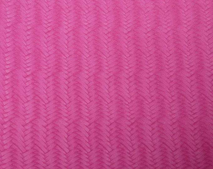 Leather 3+ sq ft Braided Fishtail HOT PINK Cowhide 3-3.5 oz / 1.2-1.4 mm PeggySueAlso™ E3160-54 hides available