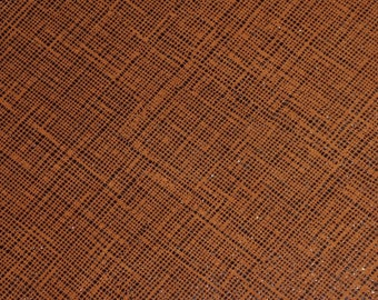 """NeW Leather 12""""x12"""" TWO TONE Saffiano look CINNAMON Glitter Linen Weave Soft not thin Cowhide 3-3.5 oz/1.2-1.4 mm PeggySueAlso™ E8201-32"""