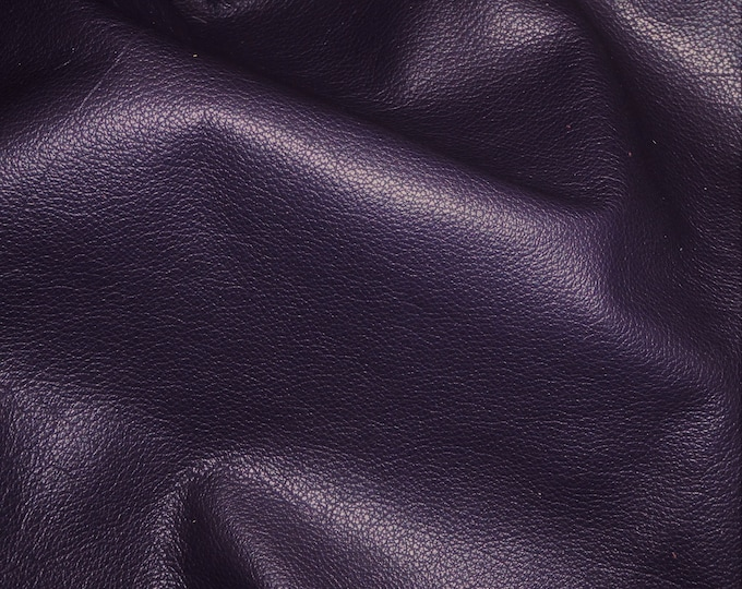 """Leather 12""""x12"""" DIVINE Dark Purple TOP grain soft Cowhide 2-2.5oz / .8-1 mm PeggySueAlso™ E2885-20 Full hides available"""