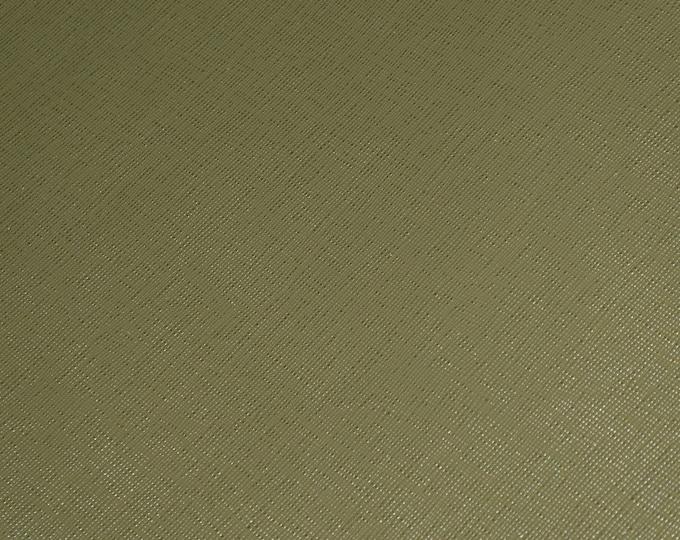 Leather 3+ sqft Italian Saffiano Olive Green Terrarium MOSS (Khaki) Weave Embossed Cowhide 2.5-3oz/1-1.2mm PeggySueAlso™ E8201-48 hides too