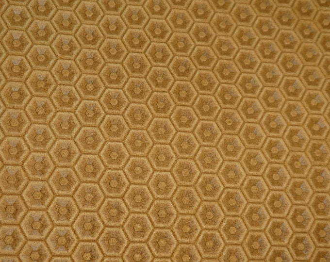 """NeW Leather 8""""x10"""" HONEYCOMB Italian LIGHT OAK / Toast Cowhide 3 oz / 1.2 mm PeggySueAlso™ E3173-06 hides available"""