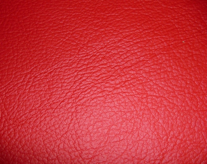 """Leather 20""""x20"""" King Bright RED Full Grain Cowhide 2.75-3.25 oz / 1.1-1.3 mm PeggySueAlso™ E2881-03 Full hides available"""