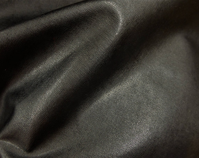 Leather 3 - 5 sq ft SAFFIANO Black Weave Embossed Cowhide 2.5-3oz/ 1-1.2mm PeggySueAlso™ E8201-09