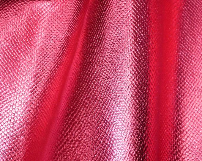"Metallic Leather 12""x20"", 15""x15""... Amazon Cobra Hot PINK Metallic Small Print  Embossed Cowhide 2.5 oz / 1mm PeggySueAlso™ E2846-03"