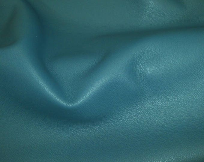 """Leather 12""""x12 King TEAL BLUE pebbled Full Grain Cowhide 3-3.25 oz / 1.2-1.3 mm PeggySueAlso™ E2881-26"""