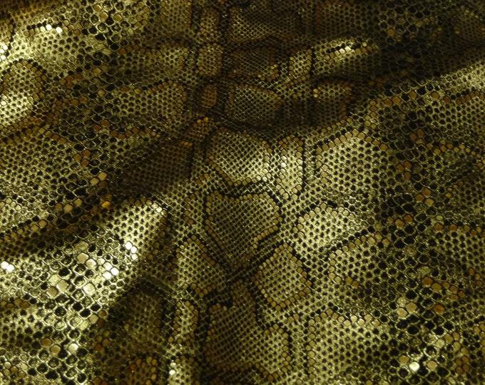 Metallic Leather CLOSEOUT Various sizes Elegant GOLD Metallic on BLACK 3-3.5 oz / 1.2-1.4 mm PeggySueAlso™ E2869-03