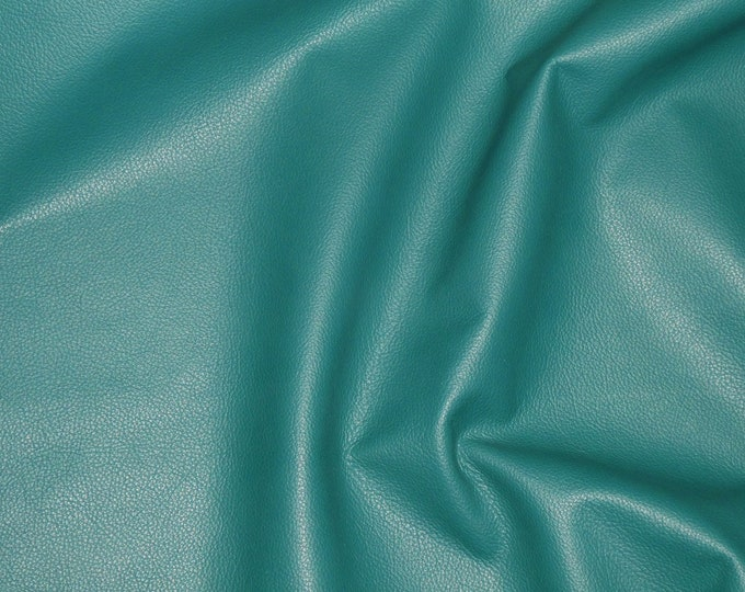 """Its BACK Leather 12""""x12"""" TEAL GREEN Divine Top Grain Cowhide 2.5oz/ 1mm PeggySueAlso™ E2885-55 Hides Available"""