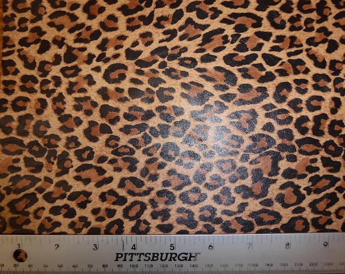 "Leather 5""x11"" Mini TAWNY Tan Cheetah / Leopard Print Soft Grain NOT hair on Cowhide 2.5oz / 1mm #100 PeggySueAlso™ E6730-01"