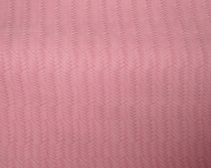 "RESTOCKED Leather 8""x10"" Cherry Blossom Pink Braided FISHTAIL SOFT Cowhide 3-3.5 oz / 1.2-1.4 mm PeggySueAlso™ E3160-30"