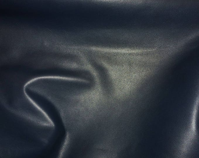 """Leather 8""""x10"""" Duchess Collection NAVY BLUE (a thinner KING) Cowhide 2.25-2.75 oz / 0.9-1.1 mm PeggySueAlso™ E2080-06 Hides too"""