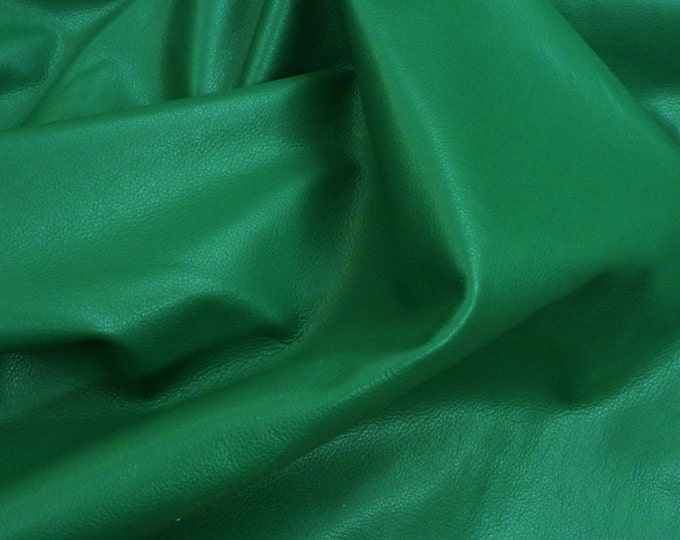 "Precut Leather 12""x24"" Divine TRULY KELLY GREEN  Top Grain Cowhide 2.5 oz/1.2 mm #275 PeggySueAlso™ E2885-47 hides available"