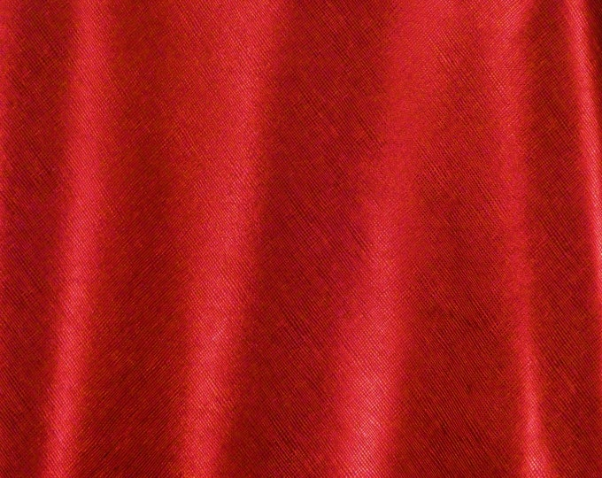 "Metallic Leather 12""x12"" Saffiano RED Metallic Weave Embossed Cowhide USA 2.75-3oz/1.1-1.2mm PeggySueAlso™ E8201-26"