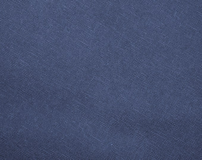"""SAFFIANO NeW Dye Lot Leather 8""""x10"""" Navy MARINE Blue Weave Embossed Cowhide 2.5-3oz/ 1-1.2mm PeggySueAlso™ E8201-03"""