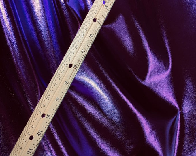"""Metallic Leather 12""""x12"""" smooth Purple Foil METALLIC Cowhide 3.5-4 oz / 1.4-1.6mm PeggySueAlso™ E2845-14 Hides available"""