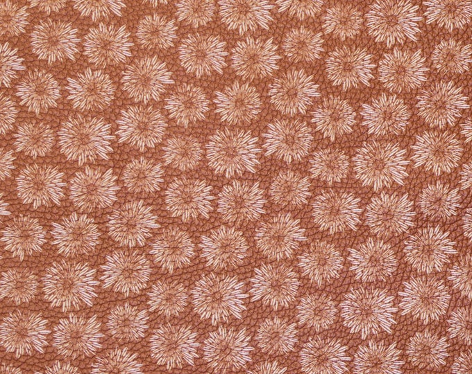 """Leather 8""""x10"""" DAHLIA flowers on Golden Brown Cowhide 3-3.5 oz/1.2-1.4 mm PeggySueAlso™ E1133-06 hides too"""