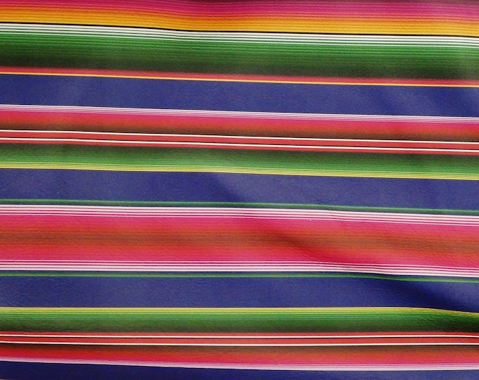 SERAPE Leather 7 or 8 or 9 or 10 sq ft Mexican FIESTA SERAPE Stripe cowhide 2-2.5 oz / 0.8-1 mm PeggySueAlso™ E8400-01 Hides Available