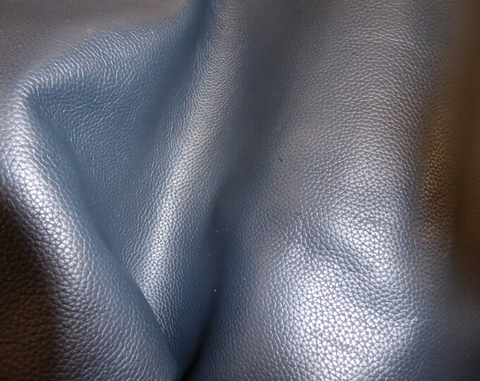 """Leather 8""""x10"""" Biker NAVY BLUE Top Grain Soft Cowhide 3-3.5 oz / 1.2-1.4mm PeggySueAlso™ E2879-05 Hides Available"""