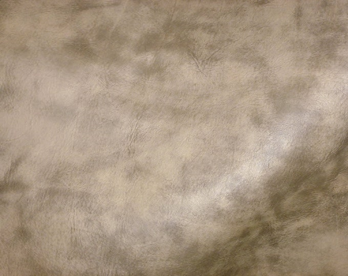 "Leather old dye lot 8""x10"" Artisian Tie Dye CREAMY CAMEL Distressed Cowhide 4 oz / 1.6 mm - PeggySueAlso™ E2920-06"