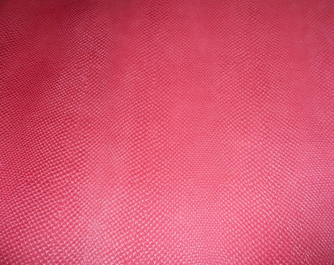 "Leather 8""x10"" Amazon Cobra PEARLIZED HOT PINK Snake Embossed Cowhide 2.5 oz / 1 mm PeggySueAlso™ E2972-01 Limited"