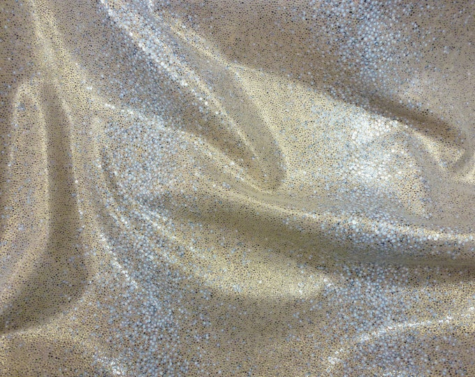 "Leather 12""x20"" or ?? Smooth Stingray Crushed Sea SHELLS EXOTIC Cowhide 2.5-2.75 oz /1-1.1 mm PeggySueAlso™ E1290-07 Full Hides Available"
