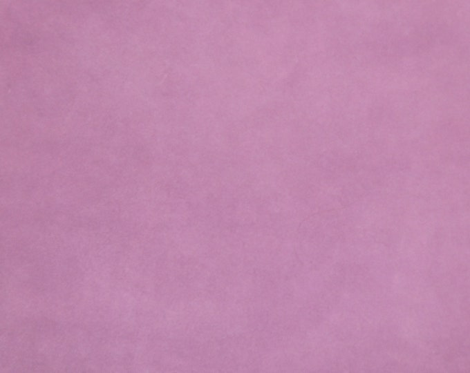 """Suede Leather 12""""x12"""" LILAC Garment Grade SUEDE Cowhide 3.5-3.75 oz / 1.2-1.3 mm PeggySueAlso™ E2827-18"""