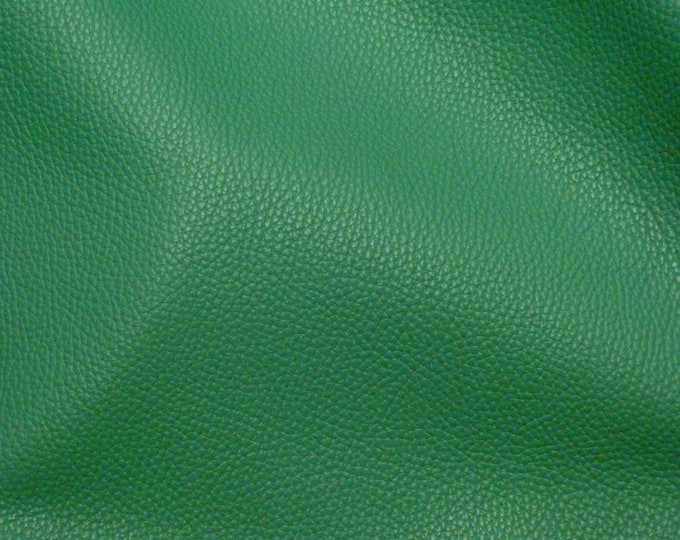 """New Leather 12""""x12"""" Imperial EMERALD / KELLY Green Fully Finished Pebble Grain THICK yet soft Italian Cowhide 3.75-4oz/1.5-1.6mm E3205-14"""
