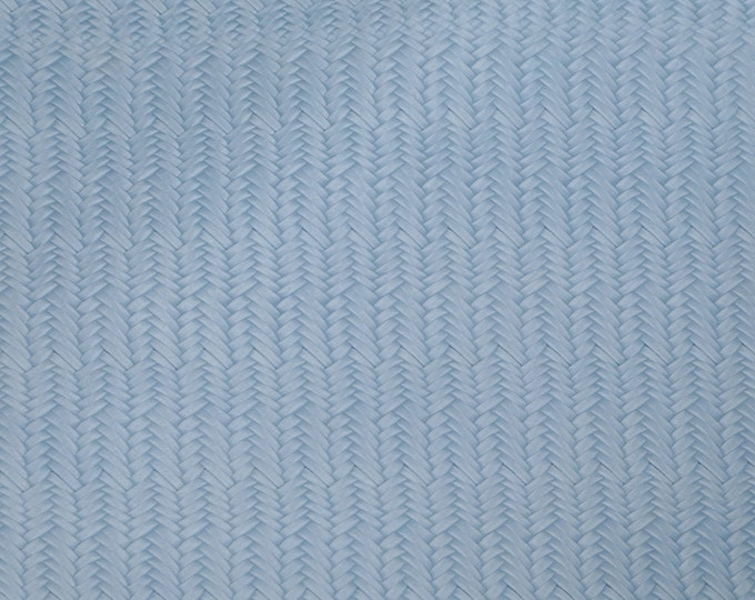 """Leather 5""""x11"""" Braided Italian Fishtail SWEET BABY BLUE Cowhide 3-3.5 oz / 1.2-1.4 mm PeggySueAlso™ E3160-20"""